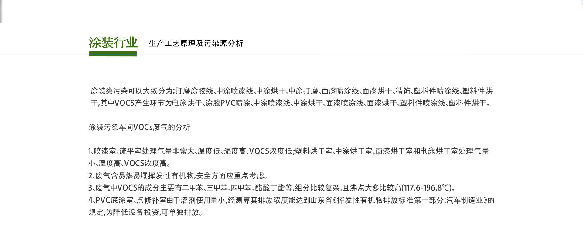 涂装行业VOCs废气治理设备